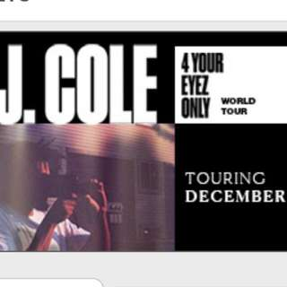 "J. Cole ""4 Your Eyez Only"" Tour Ticket"
