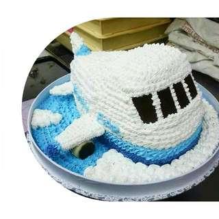 3D 飛機造型蛋糕