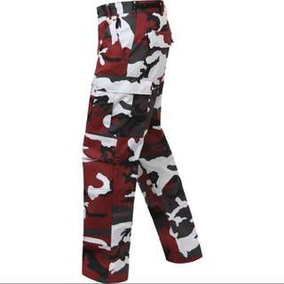 ROTHCO RED/MAROON CAMO PANTS