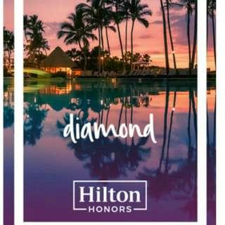 Hilton Diamond membership