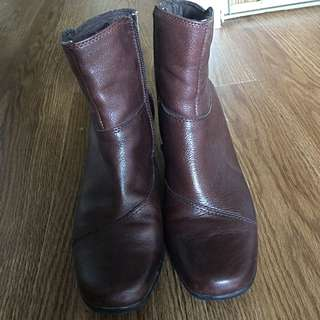 Clarks Half Boots Leather Made