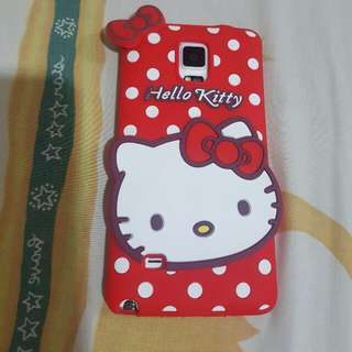 Casing Silicone Samsung Note4 Hello Kitty