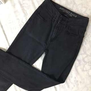 AEO Black High Waist Pants