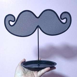 Mustache Earings And Jewelry Holder