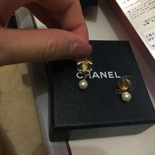 Chanel 珍珠耳環 100%real