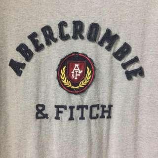 Abercrombie & Fitch Grey Varsity Shirt
