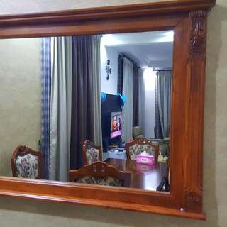 Wall Mirror  - Wooden Frame