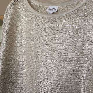Silver Sparkly Top