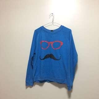 Forever 21 Mr. Mustache Sweatshirt