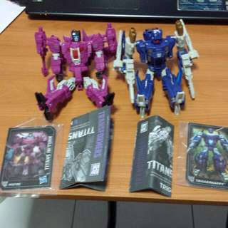 Hasbro Transformers Deluxe Misfire & Aimless, Triggerhappy & Blowpipe. Titans Return