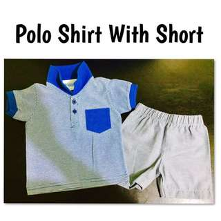 Baby's Polo Shirt and Short