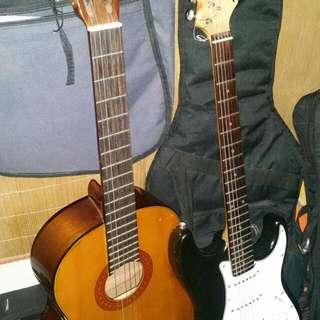 Yamaha C70 Classical acoustic guitar & Legend Electric guiatar w/ Authentic fender bag