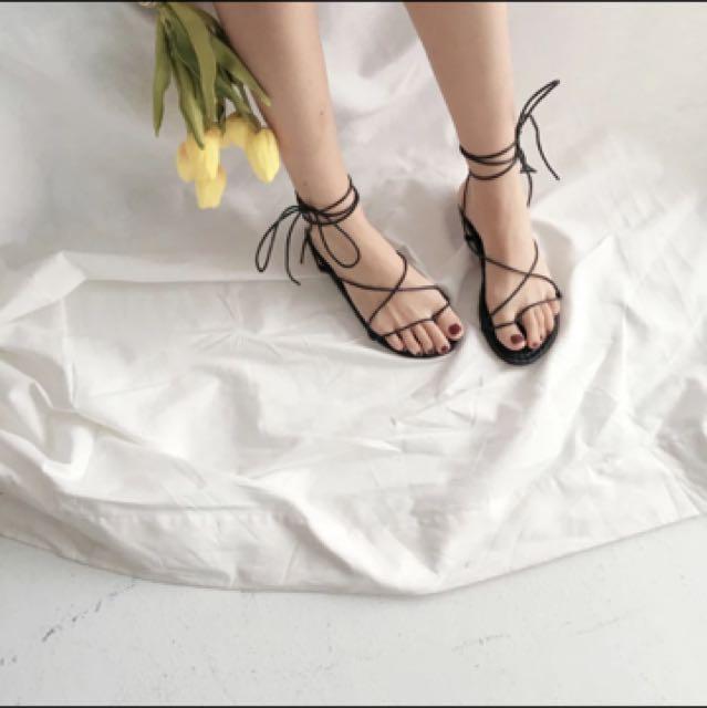 超美綁帶涼鞋