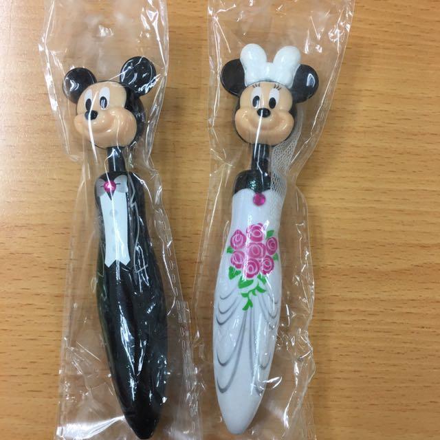 迪士尼米奇米妮造型筆#玩具交換玩