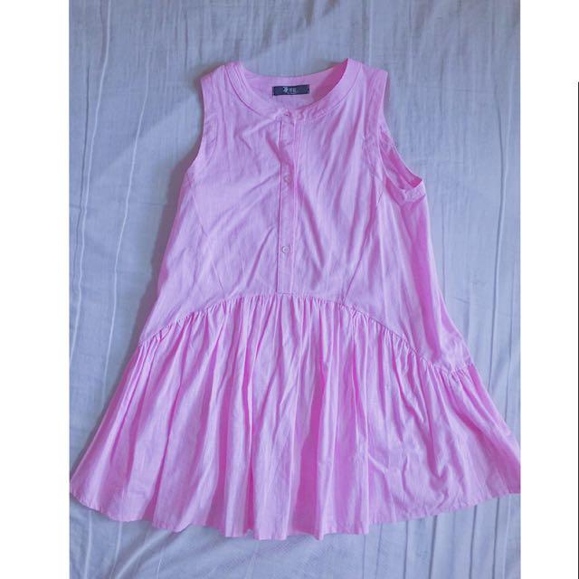 粉色公主小洋裝