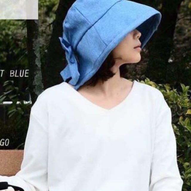 日本人氣防曬遮陽帽-深藍
