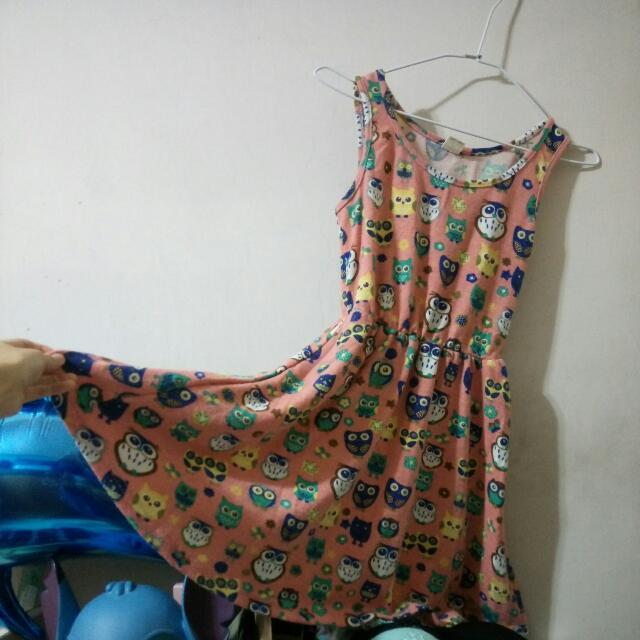 貓頭鷹背心裙