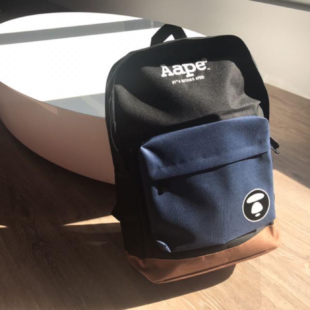 Aape* 日本旅行購入 正品後揹包 經典款 全新未用僅拍照