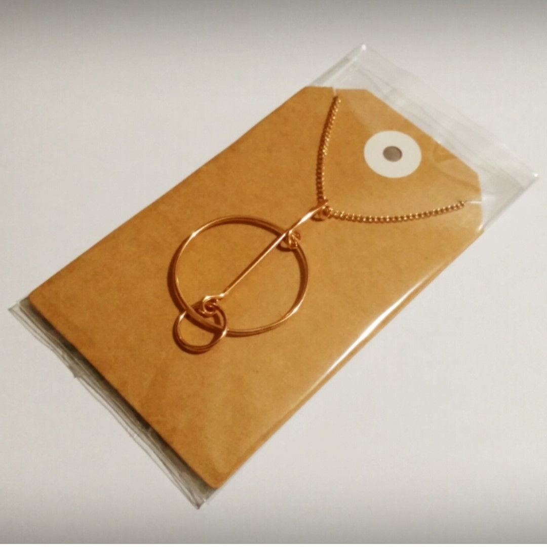 Abstract Circle Pendant Necklace (Rose Gold/Gold) + FREE POSTAGE