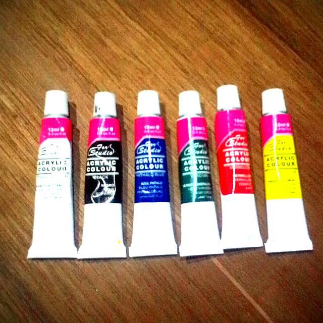 Acrylic Color Set ( 6 Tubes 12ml)