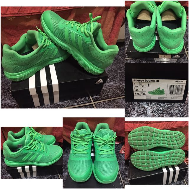 adidas energy bounce M銀光綠