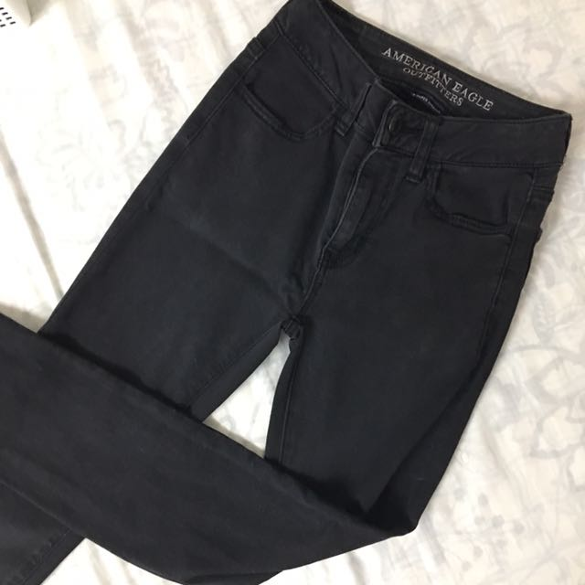 AEO Black High Waist Pants