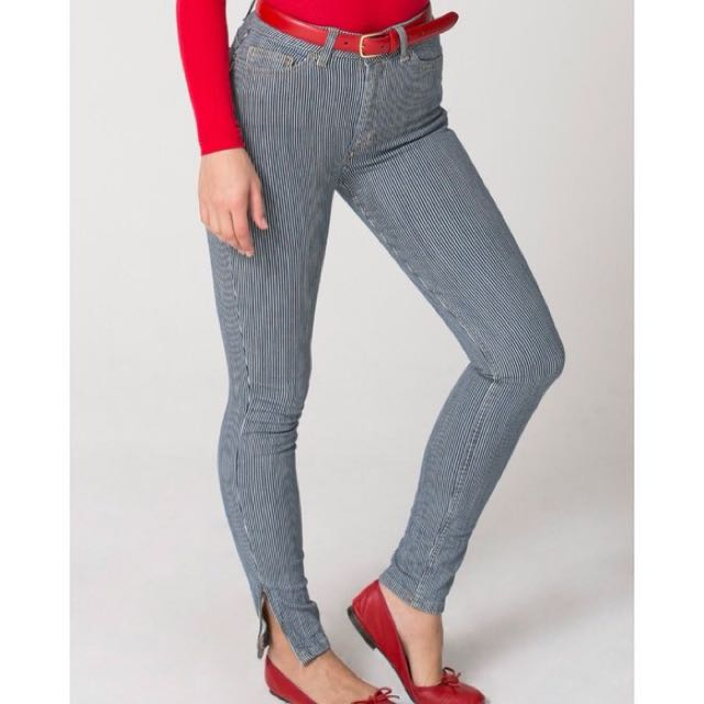 American Apparel Side Stretch Zip Pant