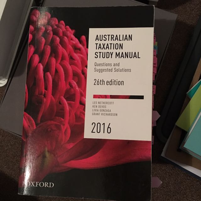 Australian Taxation Study Manual 26th Edition 2016
