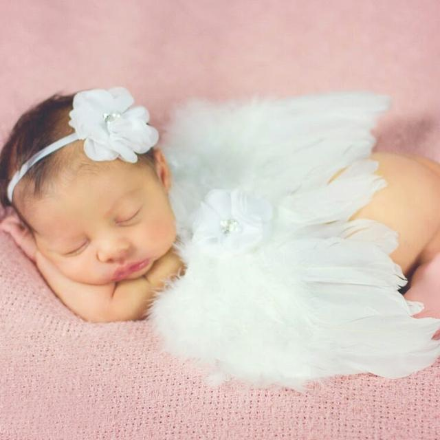 Baby Angel Wings With Matching Headband