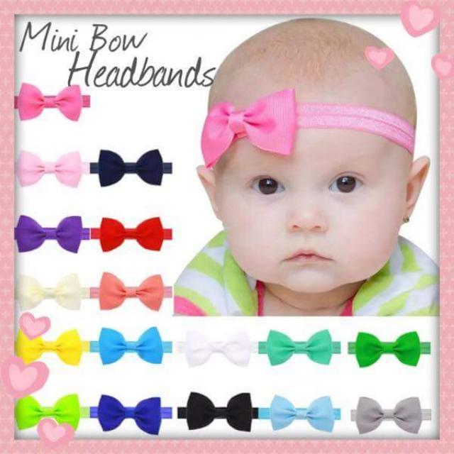Baby Mini Bow Headbands