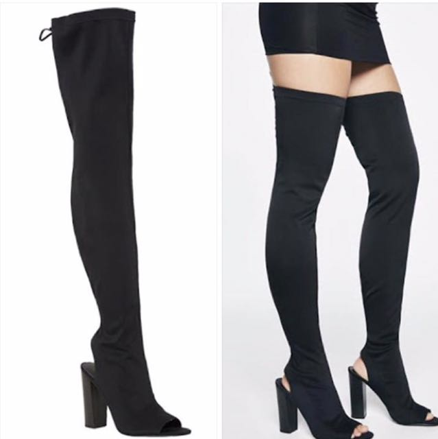 Bardot Black Over The Knee Boots
