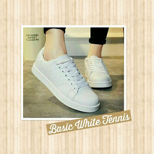 Basic White Tennis Shoes (Sneakers)