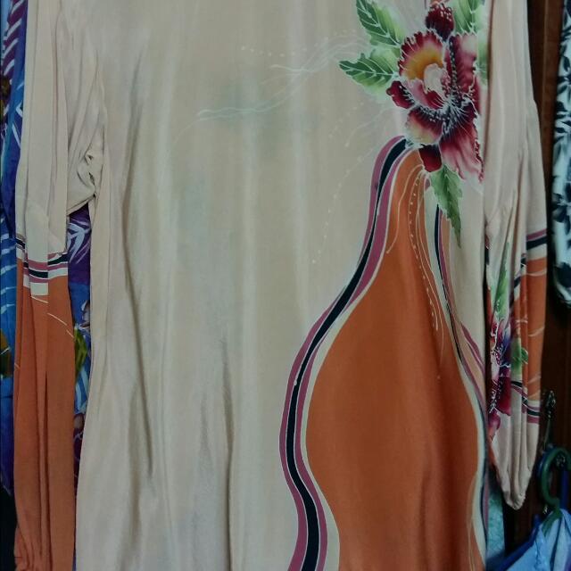 batik crepe blouse