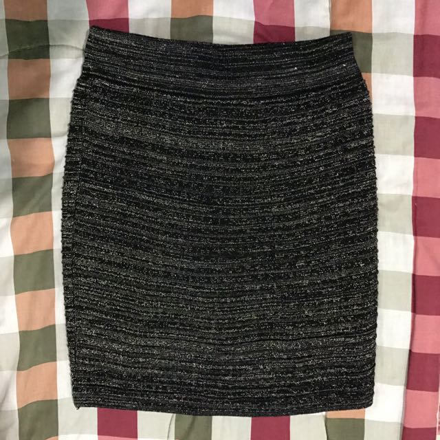 Black & Gold Bandage Skirt
