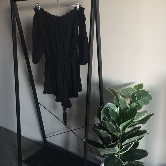 Black Off The Shoulder Jumpsuit Size 8
