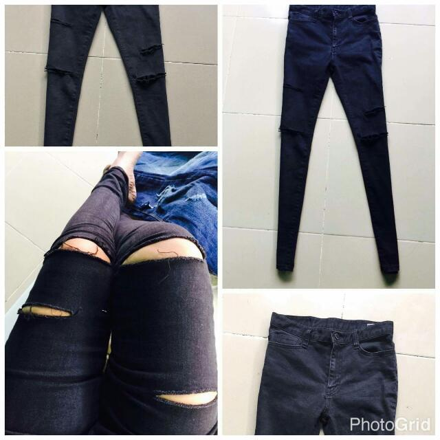 Black Ripped Jeans 27-28