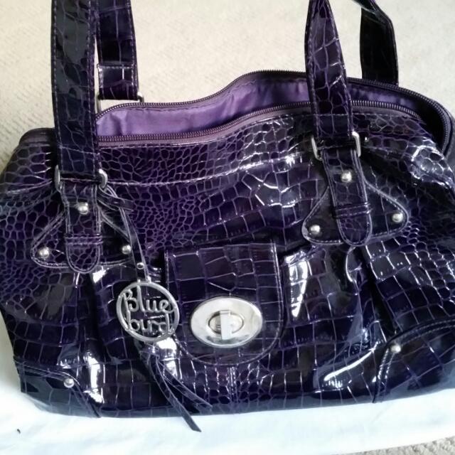Blue Bird Purple Handbag