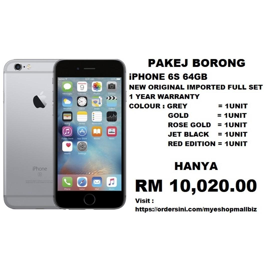 BORONG iPHONE 6S 64GB ORIGINAL IMPORTED FULL SET ba72b5b340