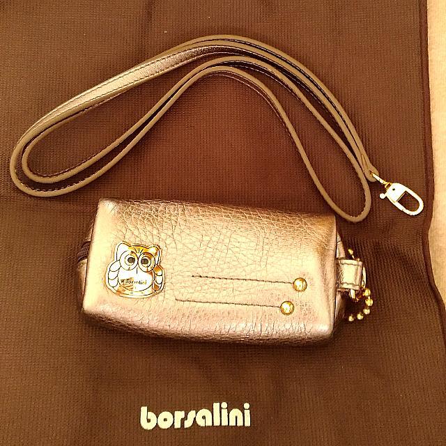 borsalini真皮掛繩式零錢鑰匙包