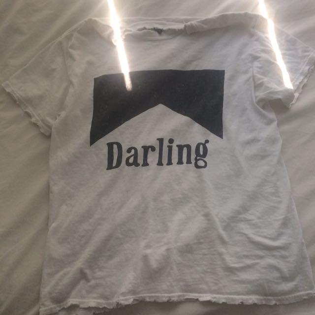 Brandy Melville Oversized Distressed Shirt