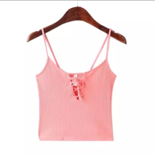 Brandy Melville Pink Lace Crop Top