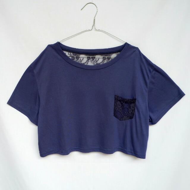 Brokat Crop Tee
