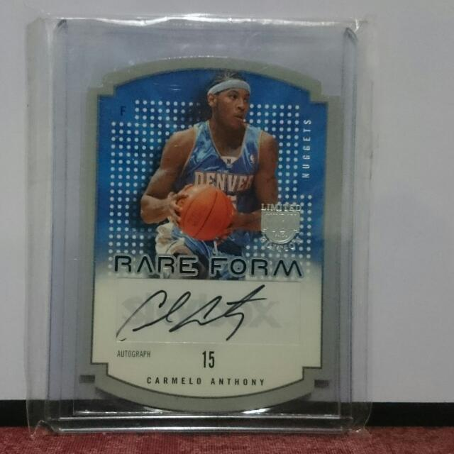 Carmelo Anthony Rookie Autograph NBA