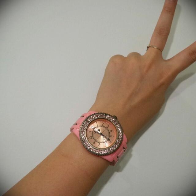 Chanel Watch (JAM TANGAN CHANEL) JAM TANHAN PINK