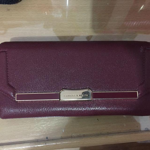 Charles Keith Maroon Wallet