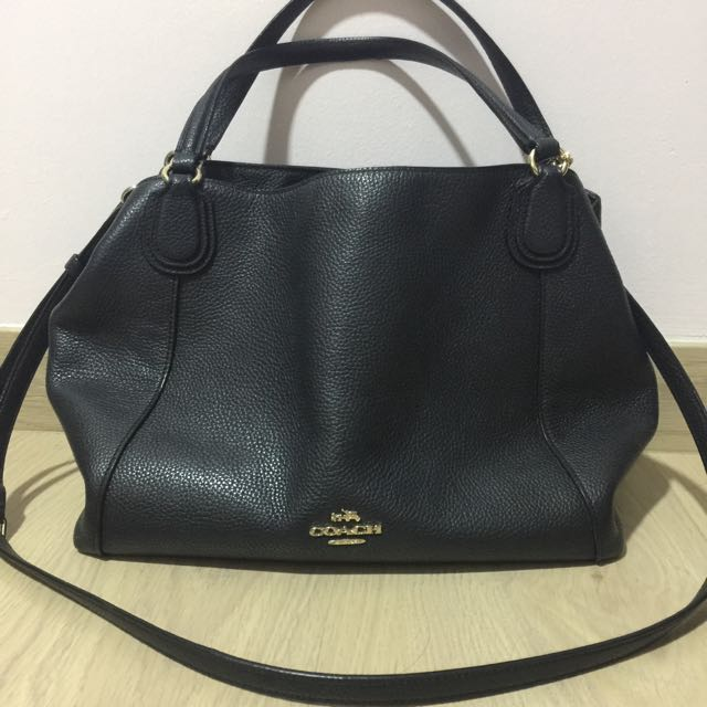 937b7c39 Coach Edie Shoulder Bag 28 In Polished Pebble Leather, Women's ...