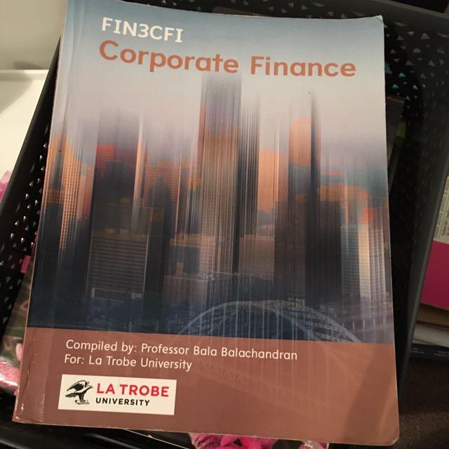 Corporate Finance Latrobe Edition FIN3CFI
