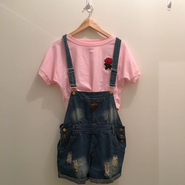 Cute Blue Denim Overalls SIZE SMALL