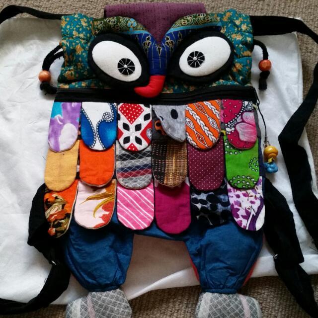 Cute Hand Made Owl Bag Backpack