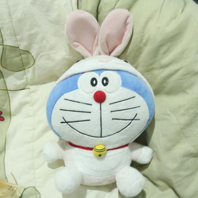 Doraemon With Rabbit Cap